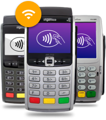 wireless merchant solution terminals for credit card processing and debit card processing